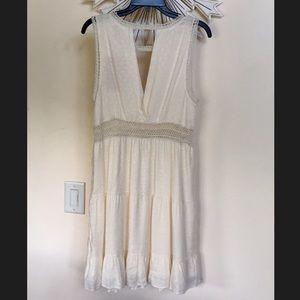 NWT Chelsea and Violet boho ivory crochet dress L
